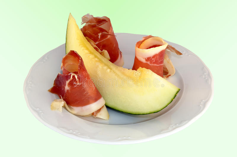 Download Ham and melon stock image. Image of summer, closeup, degraded - 32355933