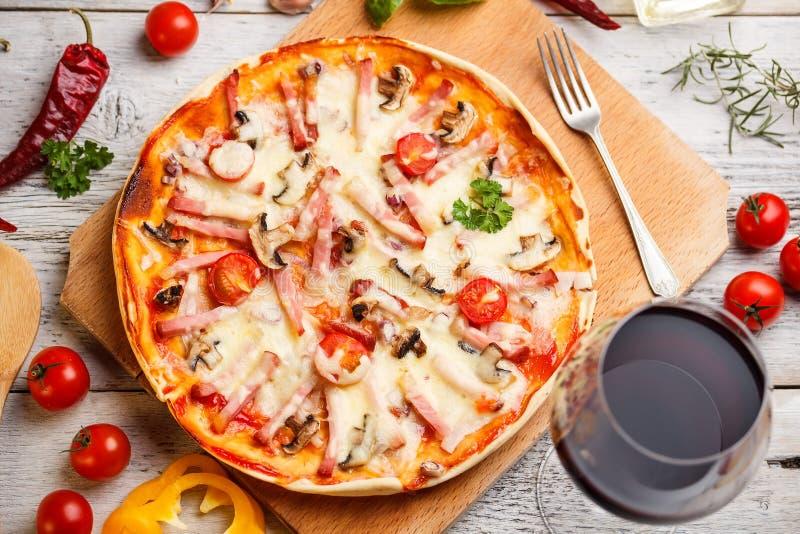 Ham pizza stock photos