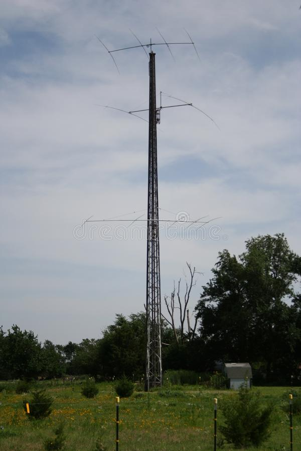 Ham radio tower stock photography