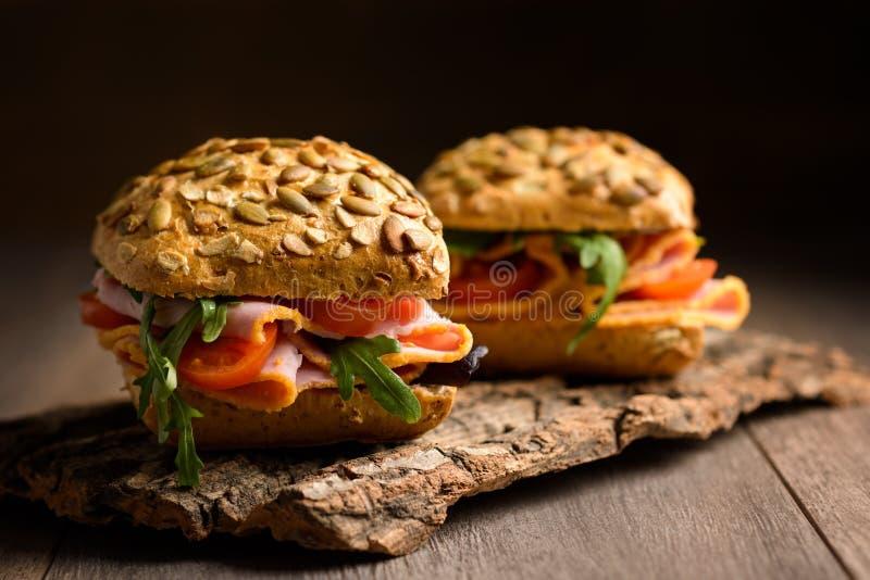 Ham Salad Rolls royalty free stock photography