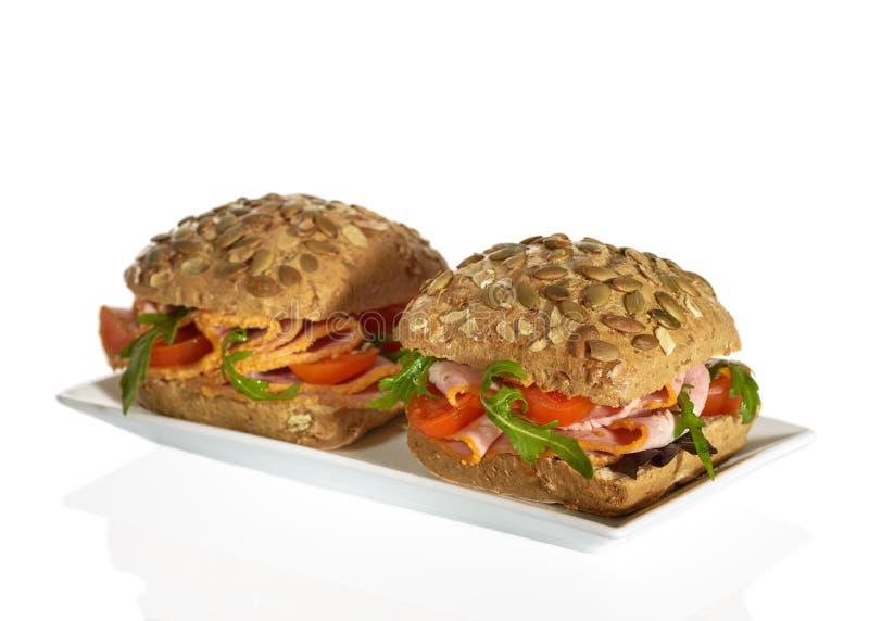 Ham Salad Rolls stock photography