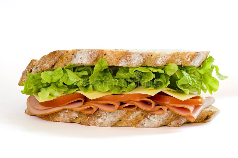 Ham and Salad Sandwich stock photography