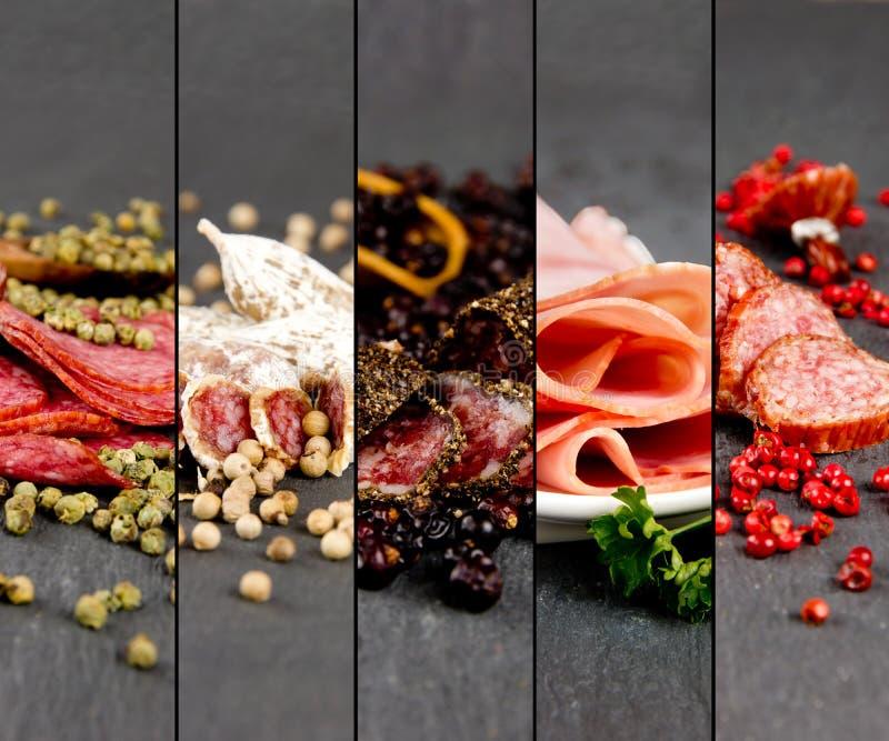 Ham and Salami Mix stock image