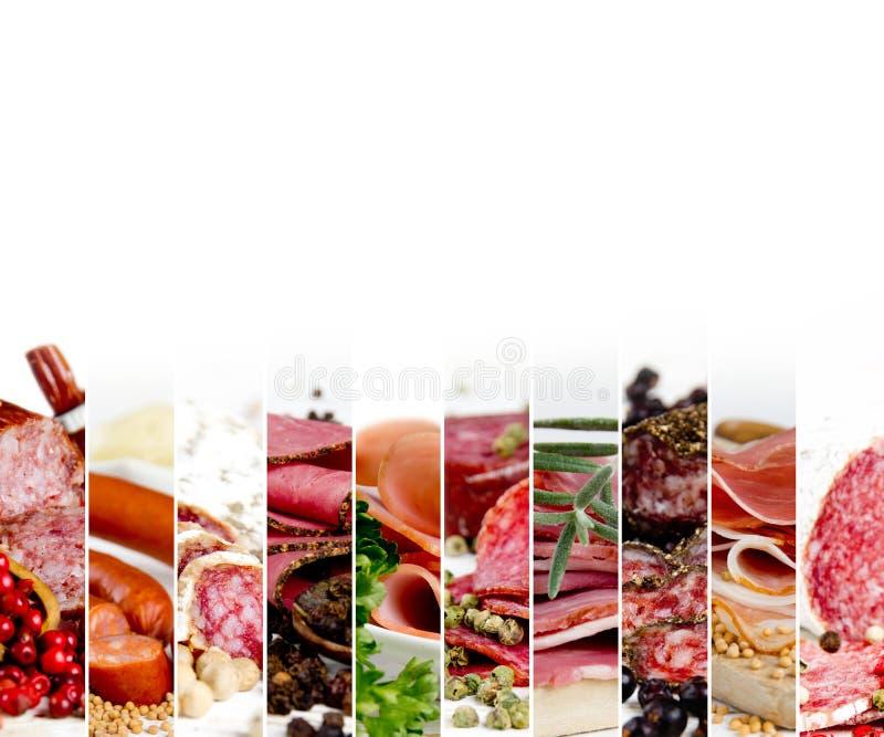 Ham and Salami Mix stock photography