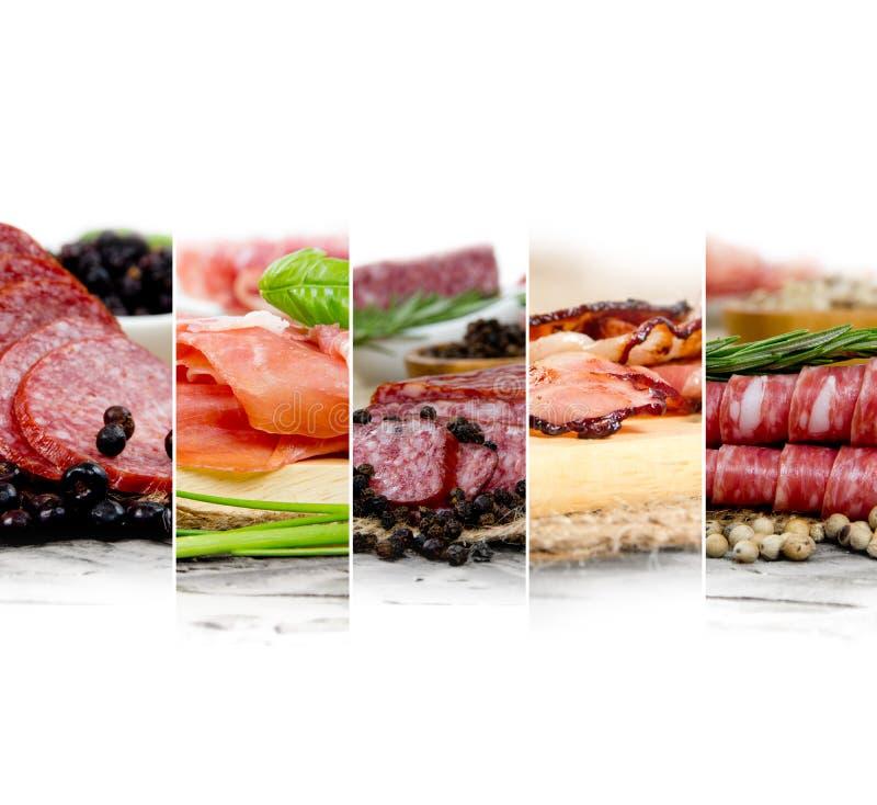 Ham and Salami Mix royalty free stock photography