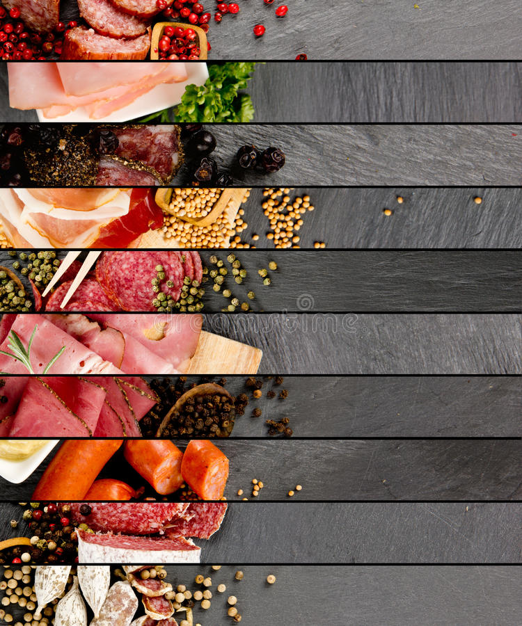 Ham and Salami Mix royalty free stock photos