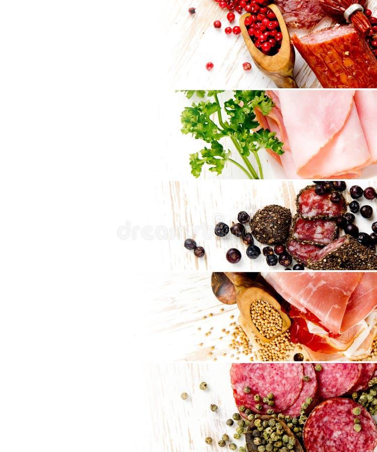 Ham and Salami Mix stock photo