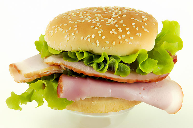 Download Ham sandwich stock image. Image of snack, pancreas, green - 18984947