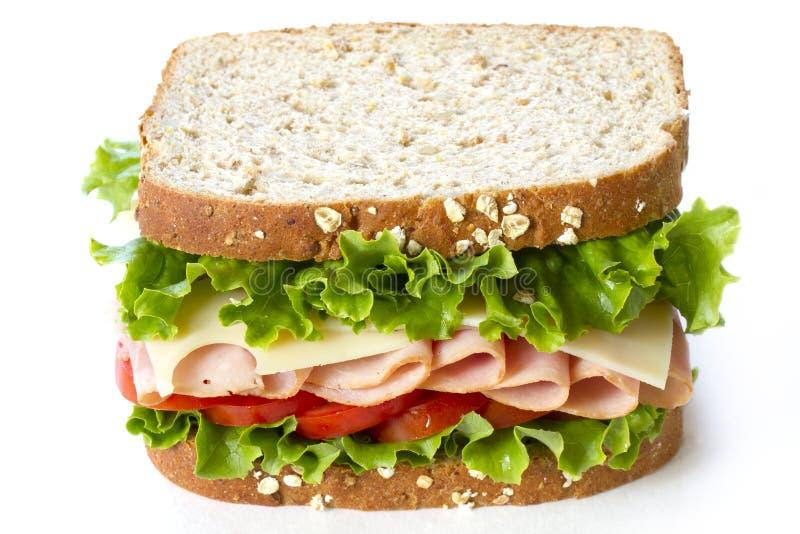 Ham sandwich royalty free stock photos