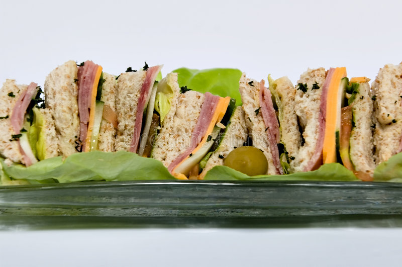 Download Ham sandwiches stock photo. Image of cooked, cheese, glass - 2449316