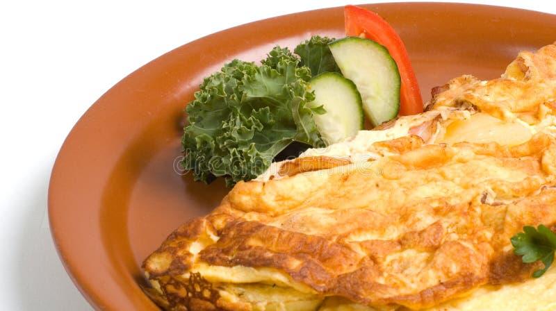 ham serowy omlet zdjęcia stock