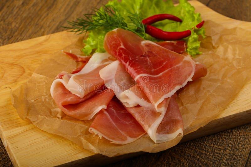 Ham serrano stock photo