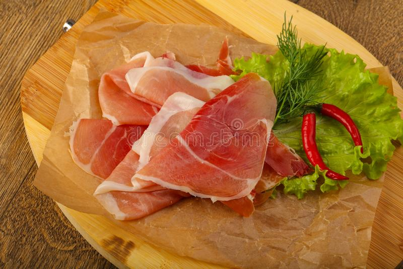 Ham serrano stock photos
