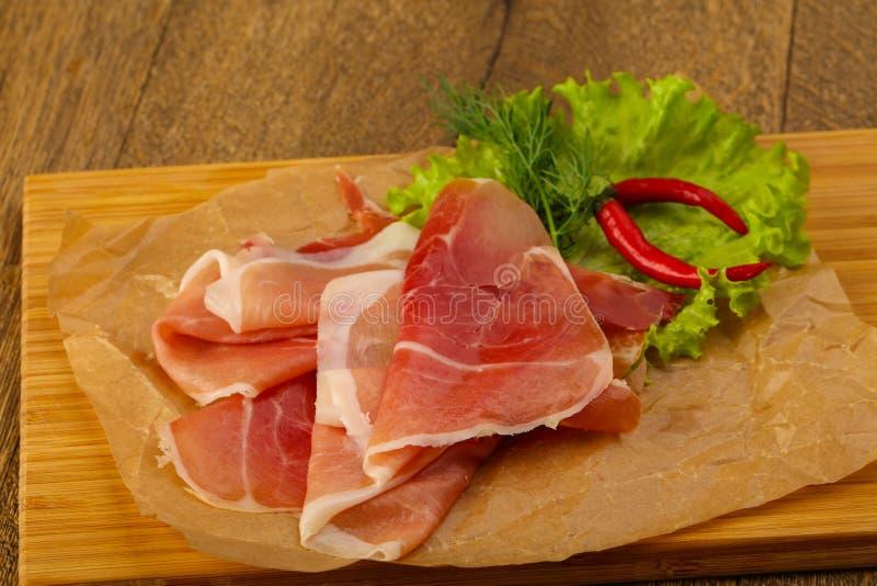 Ham serrano royalty free stock photos