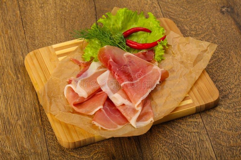 Ham serrano stock photography
