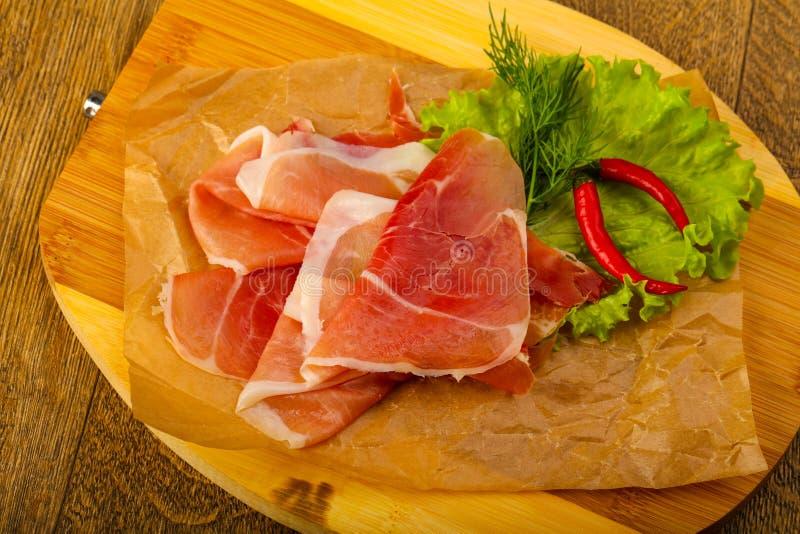 Ham serrano stock images