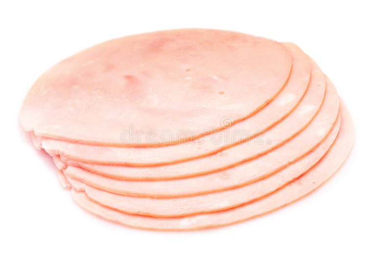 Ham slices royalty free stock image