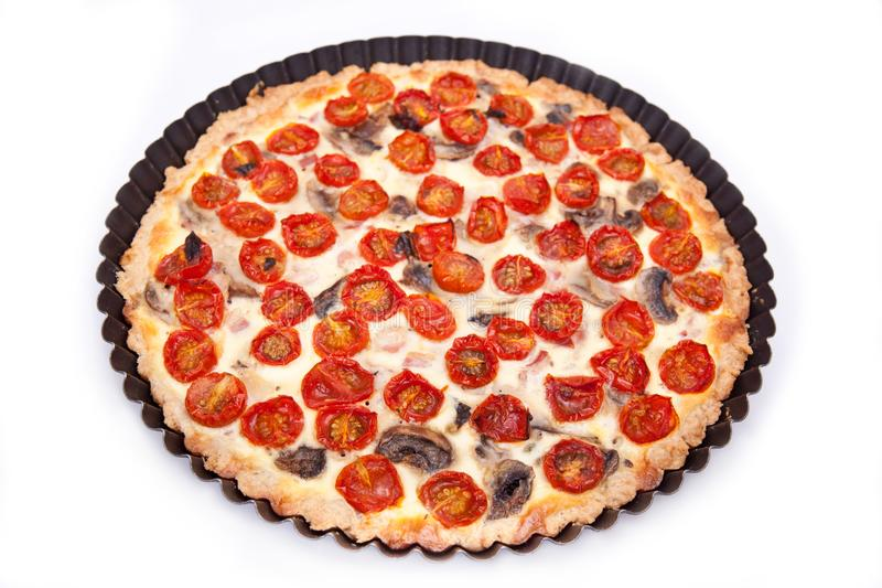 Download Ham and tomato tart stock image. Image of pastry, tomato - 14024823