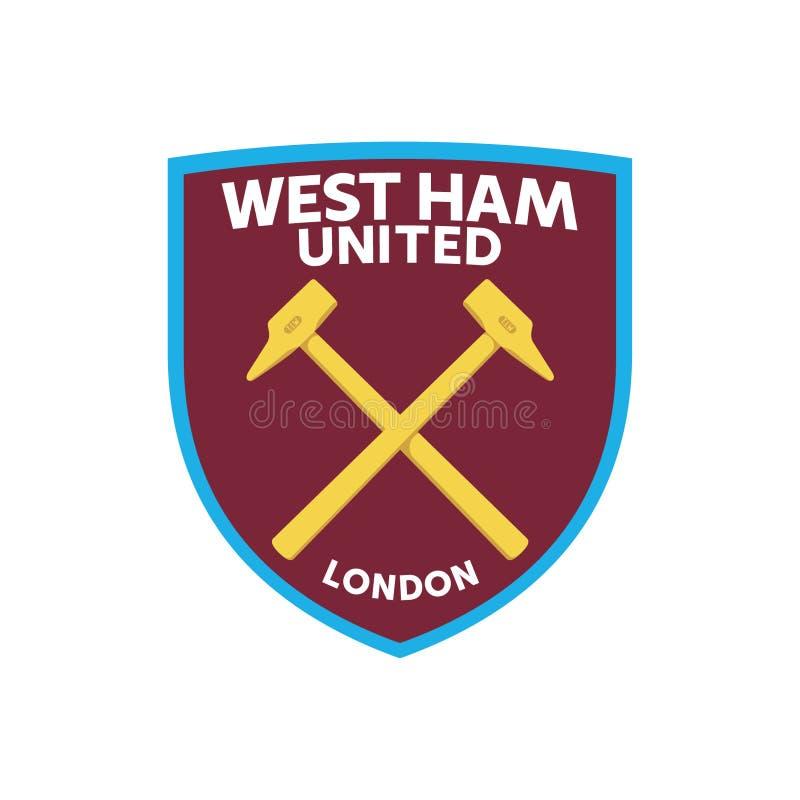 Ham United Logo Vector del oeste ilustración del vector