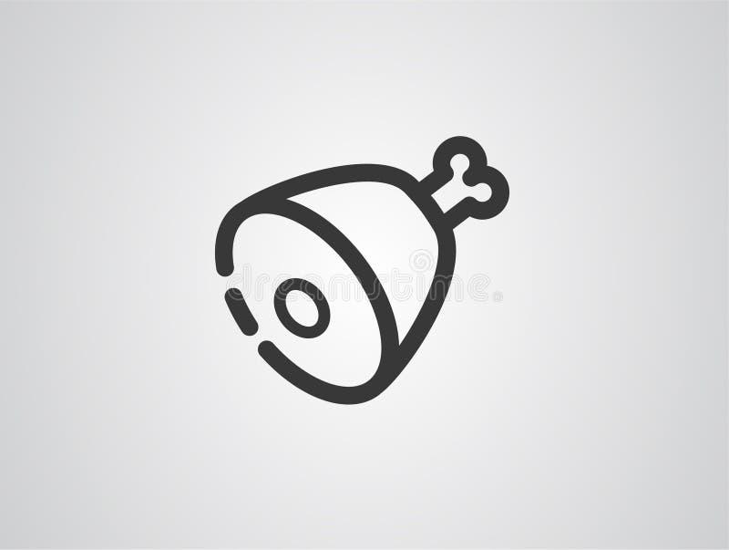 Ham vector icon sign symbol vector illustration