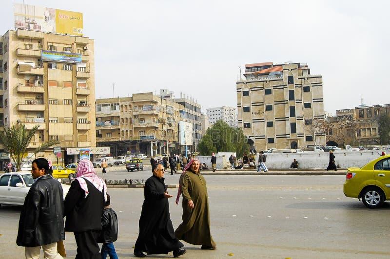 HAMA SYRIEN - Januari 13, 2010 royaltyfri fotografi