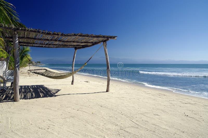 Hamaca de la playa fotos de archivo