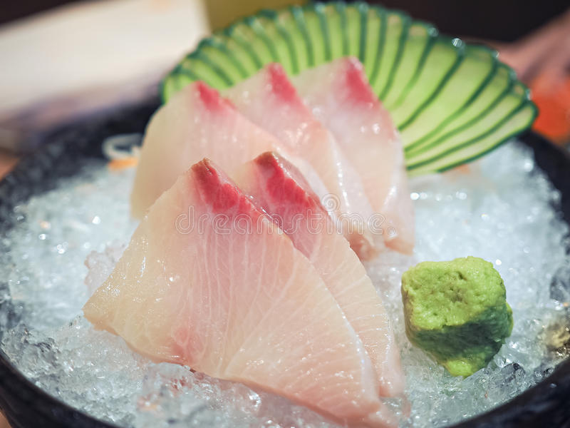 Hamachi Sashimi. Set of Japanese food , Hamachi Sashimi royalty free stock photography
