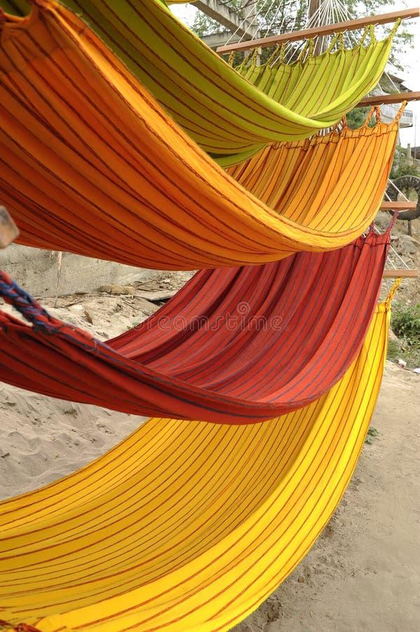 Hamacs en Equateur images stock