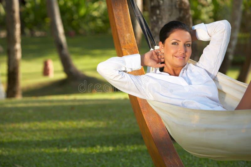 hamak kobieta zdjęcia royalty free