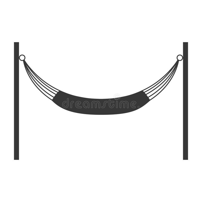 Hamak sylwetki ikona Odpoczywać i sen projekt wektorowy graphi ilustracji