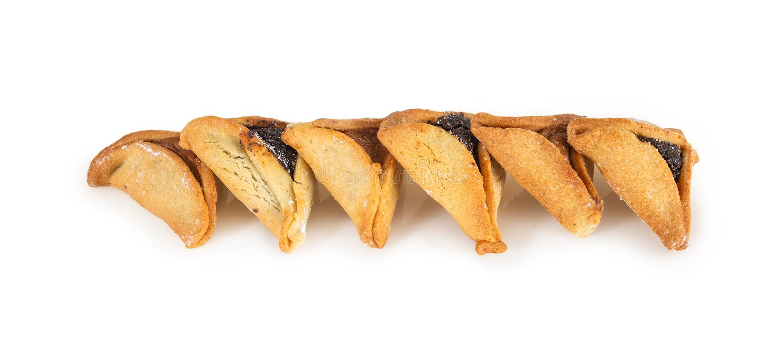 Haman`s ears are also called Hamantaschen - a traditional Jewish pastry for Purim holiday. stock photos