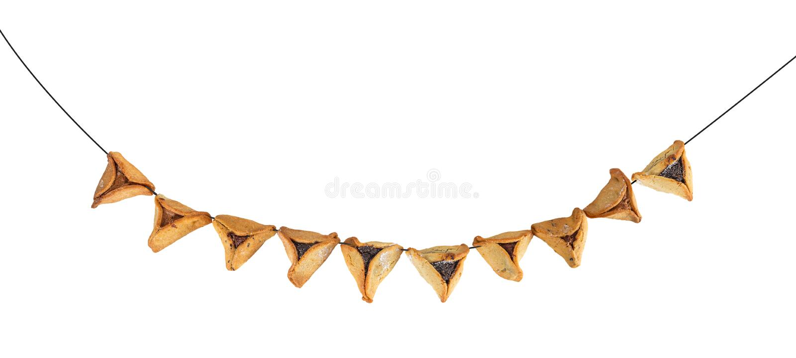 Haman`s ears are also called Hamantaschen - a traditional Jewish pastry for Purim holiday. stock photography