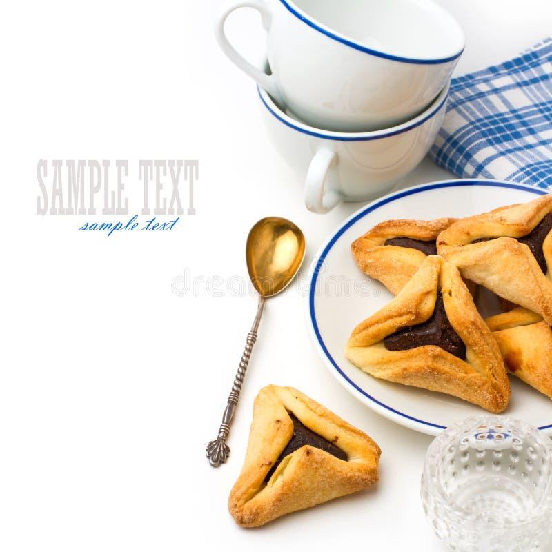 Hamantaschen曲奇饼 图库摄影