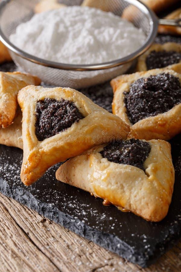 Hamantaschen cookies or hamans ears Purim celebration jewish ho stock photo