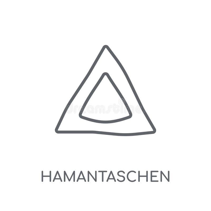 Hamantaschen linjär symbol Modern conce för översiktsHamantaschen logo stock illustrationer