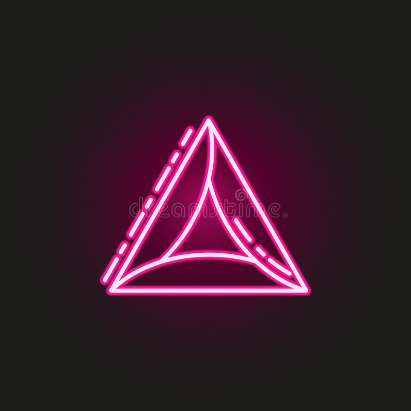 Free Hamantaschen Neon Style Icon. Simple Thin Line, Outline  Of Judaism Icons For Ui And Ux, Website Or Mobile Application Royalty Free Stock Images - 169220319