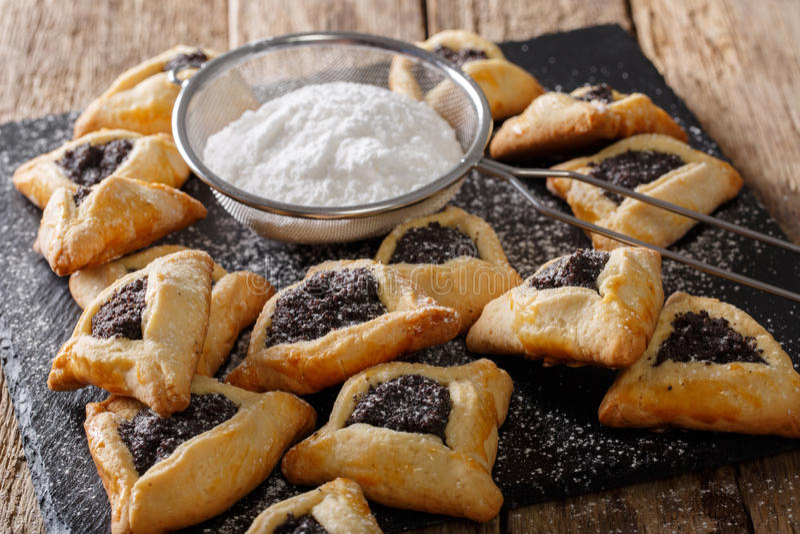 Hamantash, Ozen Aman - παραδοσιακή εβραϊκή κουζίνα στοκ φωτογραφίες με δικαίωμα ελεύθερης χρήσης