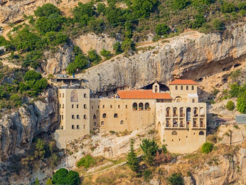 Hamatoura Monastery. Kousba, Lebanon. View of the Hamatoura Monastery in Kousba, Lebanon stock image