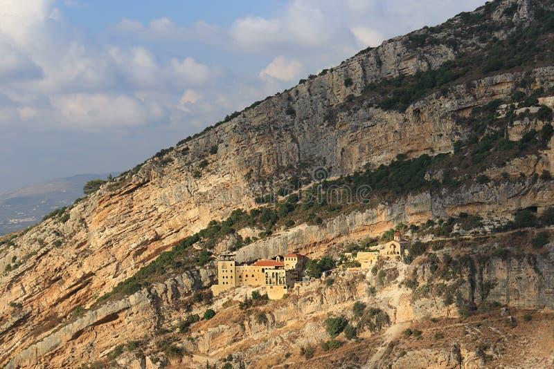 Hamatouraklooster, Kousba, Libanon stock foto