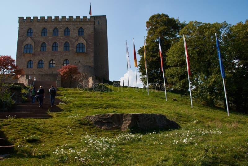 Hambacher Schloss in Duitsland, September 2017 royalty-vrije stock foto's