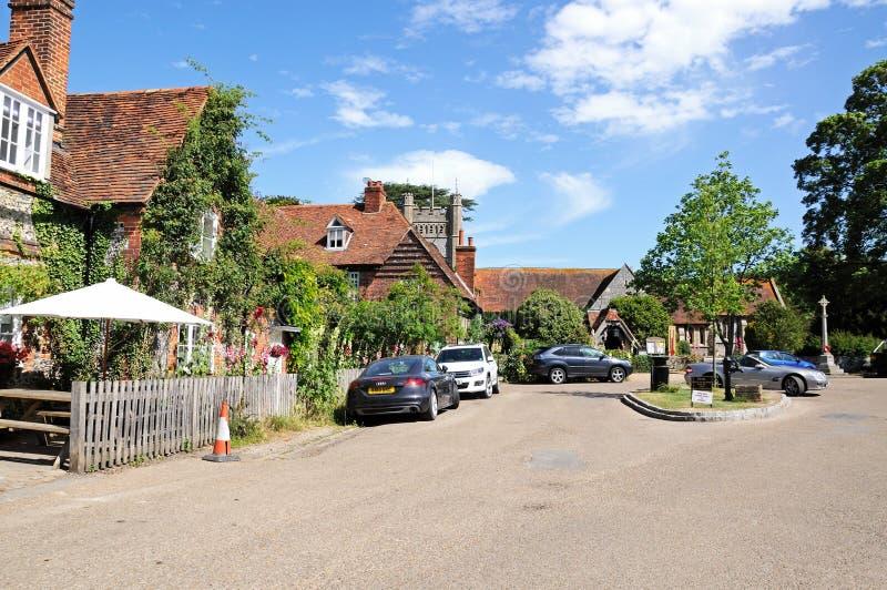 Hambledon village centre. stock photography