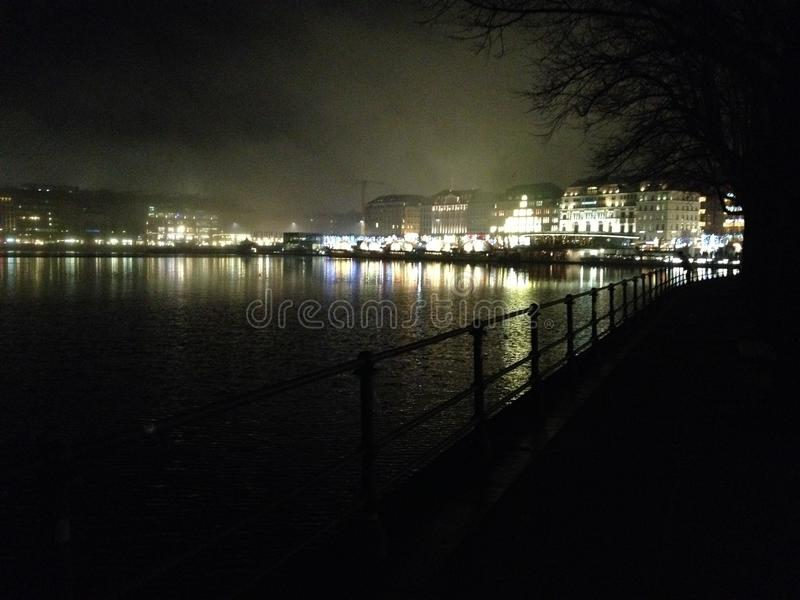Hambourg Deutschland - Binnenalster photo stock
