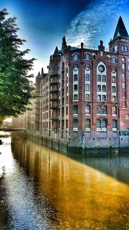 Hambourg Speicherstadt photo libre de droits