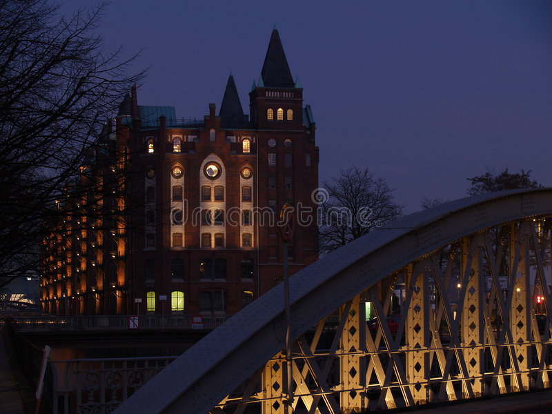 Hambourg Speicherstadt photo stock