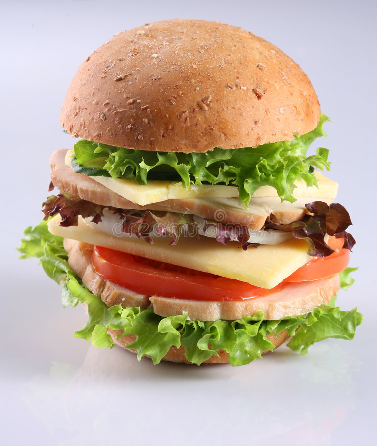 Hambuger de fromage photo stock