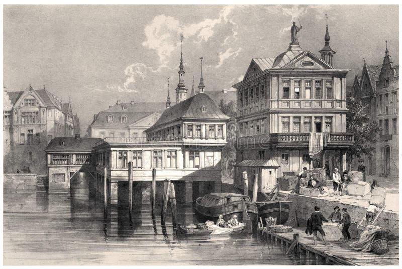 Παλαιά ανταλλαγή Hamburg※ στοκ εικόνα με δικαίωμα ελεύθερης χρήσης