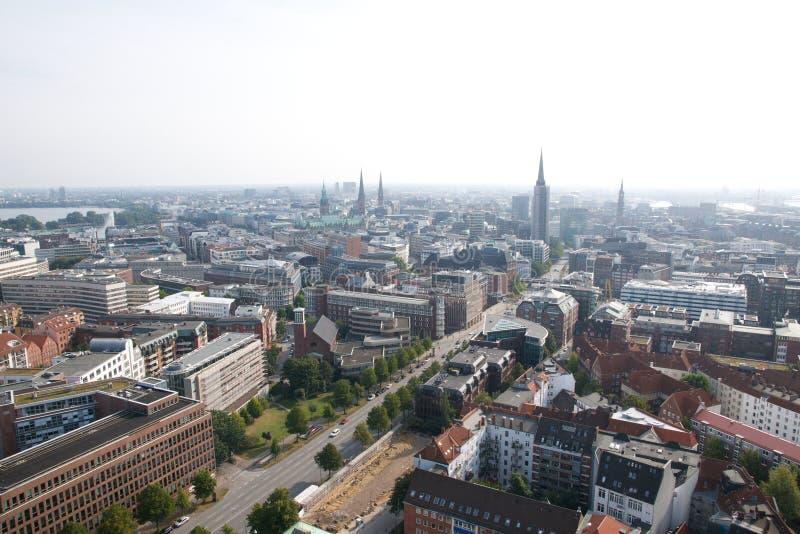 Hamburg aerial view royalty free stock photography