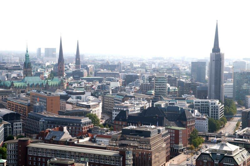 Hamburg aerial view stock photo