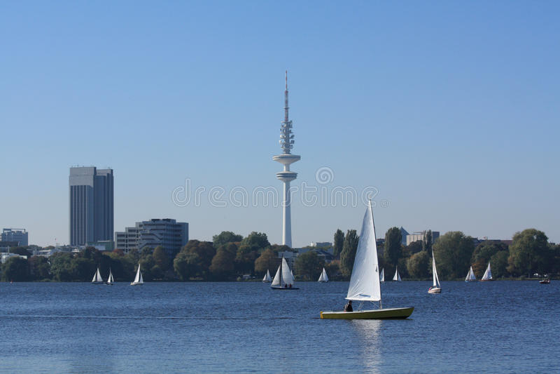 Hamburg Alster royalty-vrije stock foto