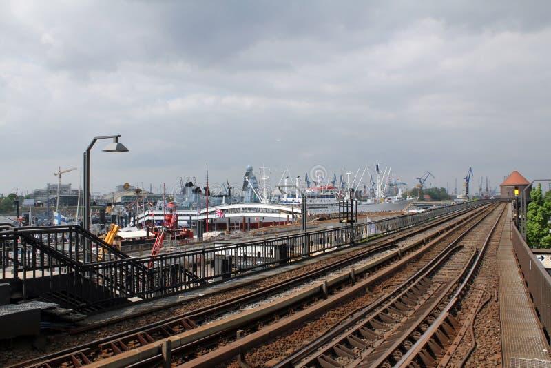 Hamburg, Baumwall underground station royalty free stock images